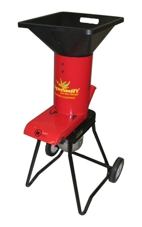 Supaswift CC3300 Electric Chipper Chopper - 2hp induction electric motor, heavy duty reversible blades.
