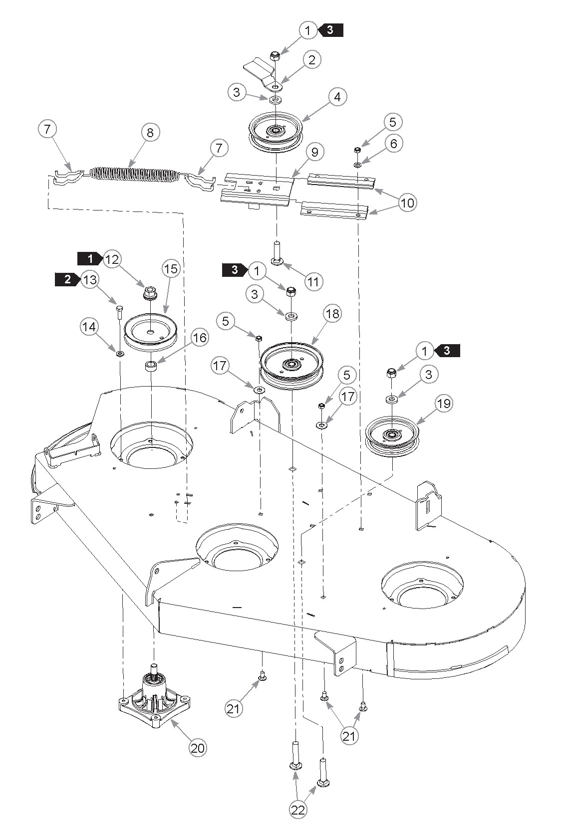 Deck Pulleys And Spindles Model 931899ex Mower Centre